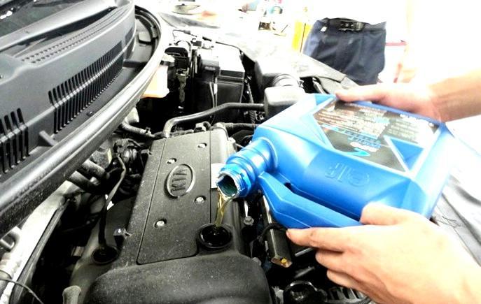 Как сменить масло в двигателе kia rio